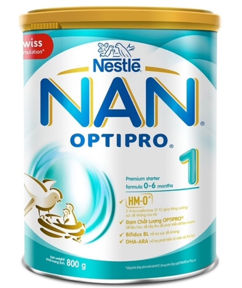 Sữa cho trẻ sơ sinh NAN