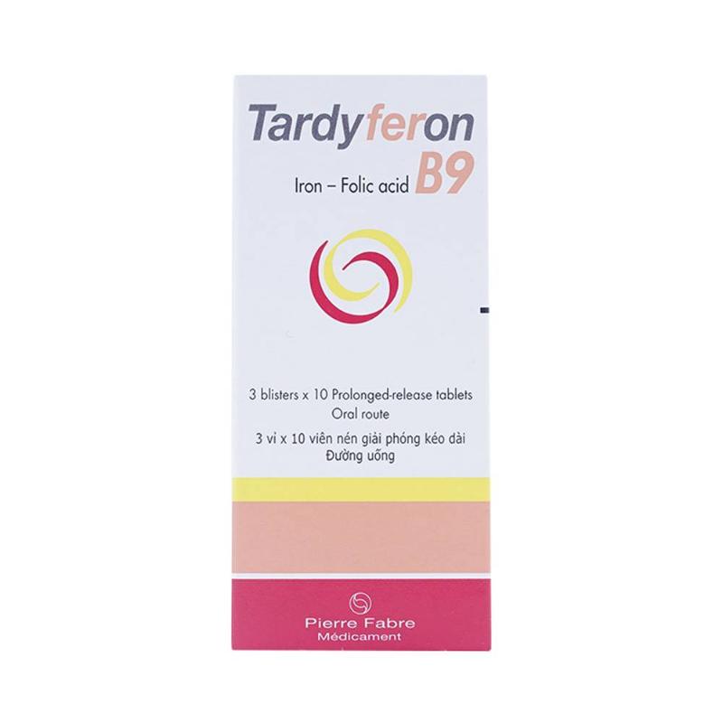 Viên uống bổ sung sắt Tardyferon B9
