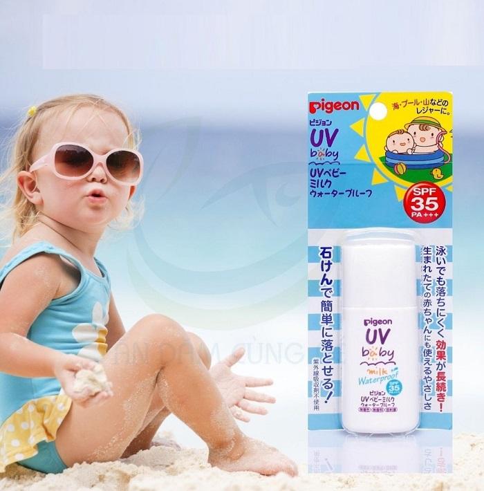 Kem chống nắng cho trẻ em Pigeon SPF50 PA+++