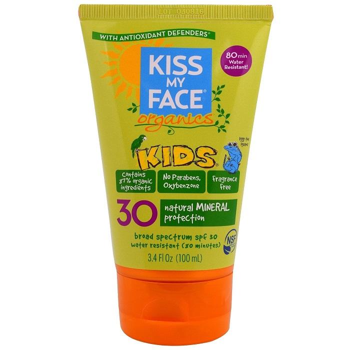Kem chống nắng cho trẻ em Kiss my face Organics Kids