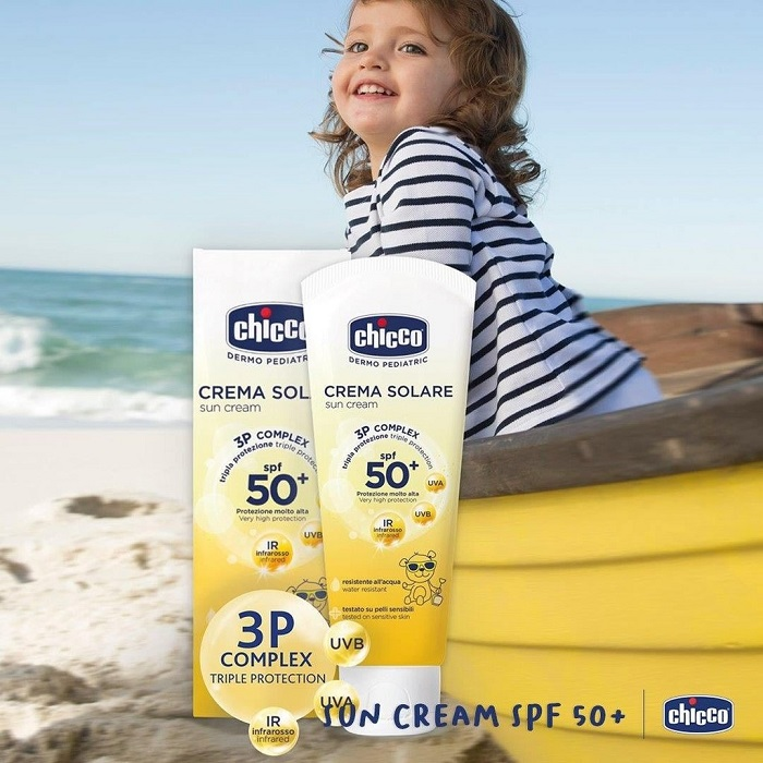 Kem chống nắng cho trẻ em Chicco SPF 50+