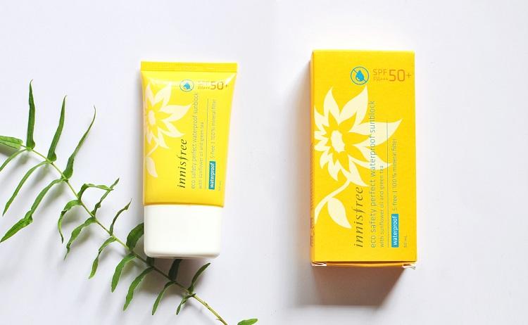 Kem chống nắng dành cho bà bầu Innisfree Eco Safety Perfect Long Lasting/ Waterproof Sunblock SPF50+/PA+++