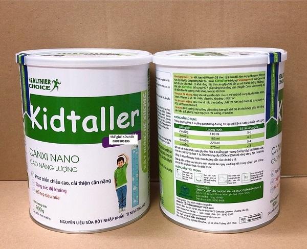 Sữa tăng chiều cao Kidtaller