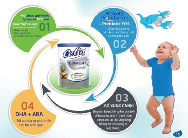Sữa tăng chiều cao cho bé Celia Expert 3