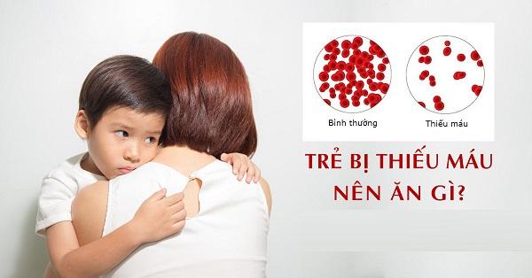 bổ sung thực phẩm cho trẻ bị thiếu máu